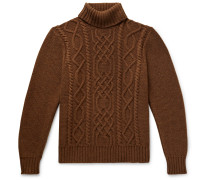 Celebration Cable-Knit Merino Wool Rollneck Sweater