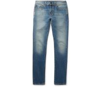 Skinny-fit 15cm Hem Distressed Denim Jeans