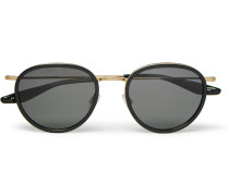 Corso 52 Round-frame Acetate And Gold-tone Titanium Sunglasses