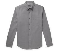 Button-Down Collar Double-Faced Cotton-Flannel Shirt