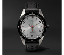 Timewalker Date Automatic 41mm Stainless Steel, Ceramic And Leather Watch - Gray