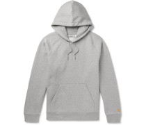 Chase Mélange Fleece-back Cotton-blend Jersey Hoodie - Gray
