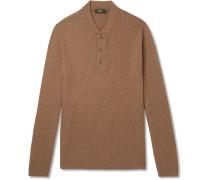 Slim-fit Ribbed Merino Wool-blend Sweater