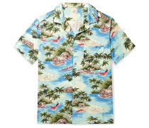 Kona Camp-Collar Printed Woven Shirt