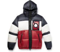 5 Moncler Craig Green Colour-block Quilted Shell Hooded Down Jacket - Red