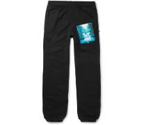 Slim-Fit Printed Loopback Cotton-Jersey Sweatpants