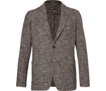 Cotton-blend Tweed Blazer