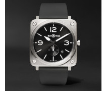 BR S 39mm Steel and Rubber Watch, Ref. No. BRS‐BLC‐ST
