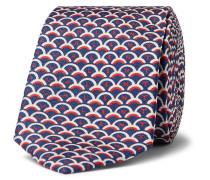 Valentino Garavani 6cm Printed Silk-twill Tie - Navy