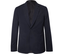 Midnight-blue Soho Slim-fit Cotton Suit Jacket
