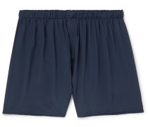 Silk Boxer Shorts - Navy