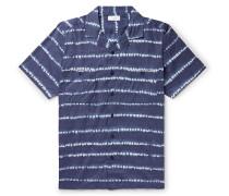 Camp-Collar Tie-Dye Cotton Shirt