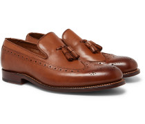 Lucien Burnished-leather Tasselled Loafers - Tan