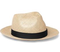 Grosgrain-Trimmed Sisal Hat