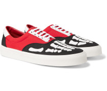 Skel Toe Leather-Trimmed Colour-Block Canvas Sneakers