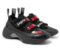 Recovery Suede, Neoprene And Rubber Sneakers - Black