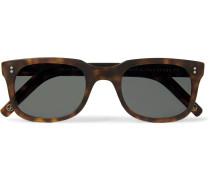 + Culter and Gross Square-Frame Matte Tortoiseshell Acetate Sunglasses
