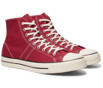 Lucky Star Canvas High-top Sneakers - Red