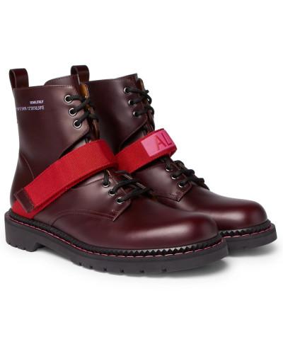 Outlet-Store Valentino Herren Valentino Garavani Coordinates Grosgrain-trimmed Leather Combat Boots Outlet Beste Geschäft Zu Bekommen Spielraum-Websites yijPqVe