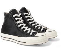 1970s Chuck Taylor All Star Calf Hair High-top Sneakers - Black