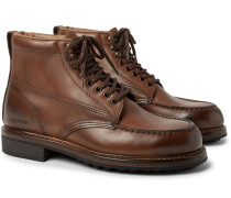 Cromwell Burnished-leather Hiking Boots