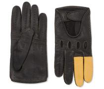 + Goodwood Full-Grain Leather Driving Gloves