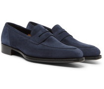+ George Cleverley Newport Suede Penny Loafers