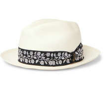 Fellini Grosgrain-Trimmed Straw Panama Hat