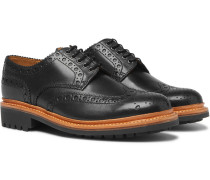Archie Leather Wingtip Brogues - Black