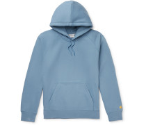 Chase Logo-Embroidered Fleece-Back Cotton-Blend Jersey Hoodie