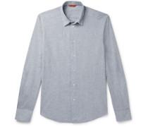 Slim-Fit Slub Cotton Shirt