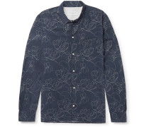 Printed Lyocell and Cotton-Blend Shirt