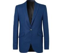 Sky-Blue Linen Suit Jacket