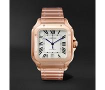 Santos Automatic 39.8mm 18-Karat Pink Gold Interchangeable Alligator Watch, Ref. No. WGSA0007