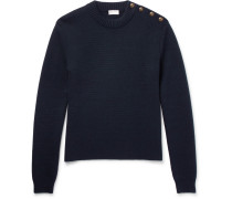 Button-detailed Wool Sweater