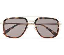 Aviator-style Tortoiseshell Acetate And Gold-tone Sunglasses - Tortoiseshell