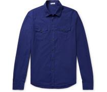 Slim-fit Cotton-poplin Shirt - Royal blue