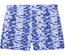 Summer Samba Slim-fit Short-length Printed Swim Shorts