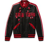 Spiritismo Embellished Satin Bomber Jacket