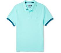 Palatin Contrast-tipped Cotton-piqué Polo Shirt - Light blue