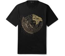 Logo-embellished Cotton-jersey T-shirt - Black