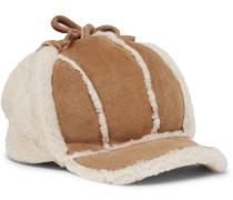 Shearling Trapper Hat - Tan