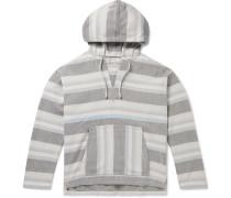 Striped Organic Cotton-Jacquard Hooded Sweater