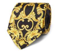 7cm Printed Silk-twill Tie - Black