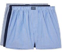 Three-pack Cotton-poplin Boxer Shorts