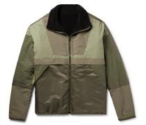 Reversible Cotton-fleece And Nylon Jacket - Green