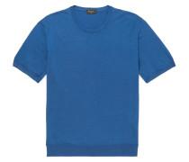 Slim-fit Virgin Wool Sweater - Blue