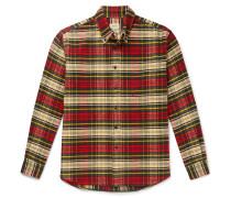 Gibbs Button-Down Collar Checked Cotton-Flannel Shirt
