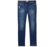 L'homme Skinny-fit Distressed Stretch-denim Jeans