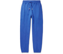 Blurred Off Tapered Fleece-back Cotton-jersey Sweatpants